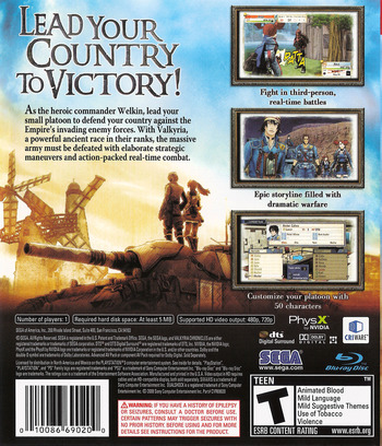 Valkyria Chronicles PS3 backM (BLUS30196)