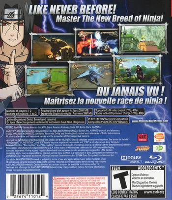 Naruto: Ultimate Ninja Storm PS3 backM (BLUS30200)