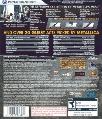 Guitar Hero: Metallica PS3 backM (BLUS30257)