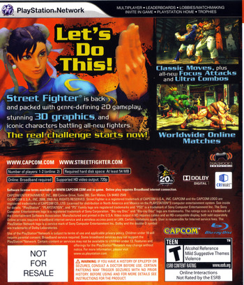 Street Fighter IV (Collector's Edition) PS3 backM (BLUS30260)