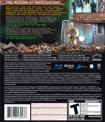 Eat Lead: The Return of Matt Hazard PS3 backM (BLUS30267)