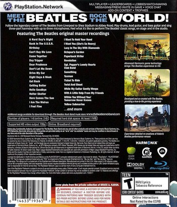 The Beatles: Rock Band PS3 backM (BLUS30282)