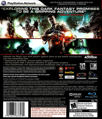 Wolfenstein PS3 backM (BLUS30298)