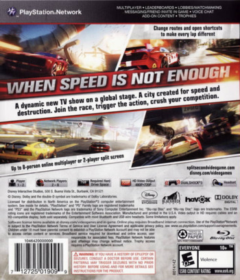 Split / Second PS3 backM (BLUS30300)