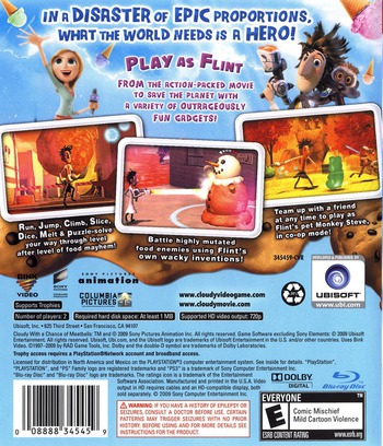 Cloudy with a Chance of Meatballs PS3 backM (BLUS30363)