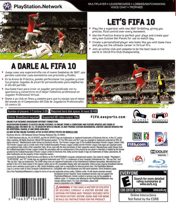 FIFA Soccer '10 PS3 backM (BLUS30385)