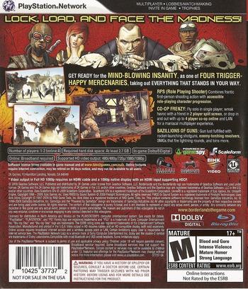 Borderlands PS3 backM (BLUS30386)