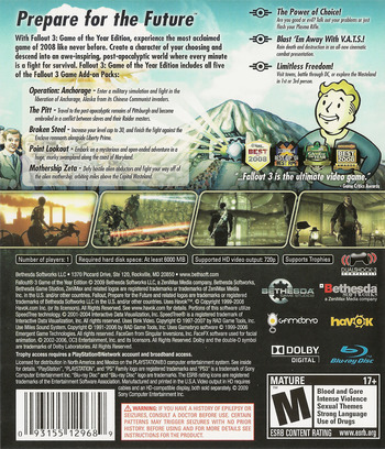 Fallout 3 Game of the Year Edition PS3 backM (BLUS30451)