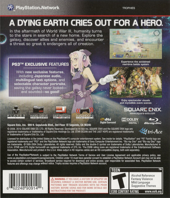 Star Ocean: The Last Hope - International PS3 backM (BLUS30462)