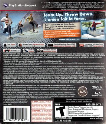 Skate 3 PS3 backM (BLUS30464)