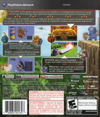 3D Dot Game Heroes PS3 backM (BLUS30490)