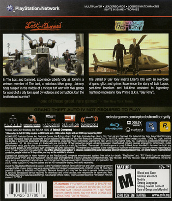 Grand Theft Auto: Episodes from Liberty City PS3 backM (BLUS30524)