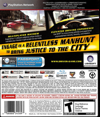 Driver: San Francisco PS3 backM (BLUS30536)