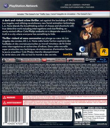 L.A. Noire PS3 backM (BLUS30554)
