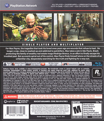Max Payne 3 PS3 backM (BLUS30557)