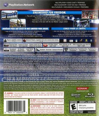 Pro Evolution Soccer 2011 PS3 backM (BLUS30610)