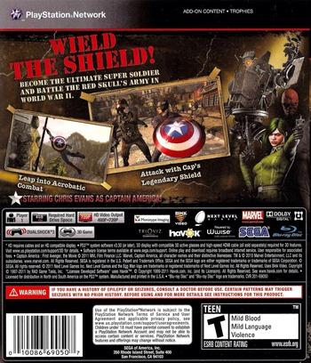 Captain America:Super Soldier PS3 backM (BLUS30642)