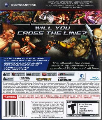 Street Fighter X Tekken PS3 backM (BLUS30722)