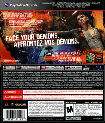 DmC: Devil May Cry PS3 backM (BLUS30723)
