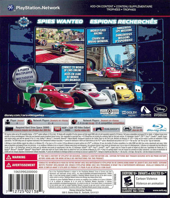 Cars 2: The Video Game PS3 backM (BLUS30725)