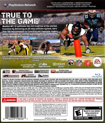 Madden NFL 12 PS3 backM (BLUS30770)