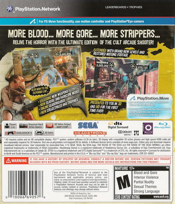The House of the Dead: Overkill Extended Cut PS3 backM (BLUS30774)