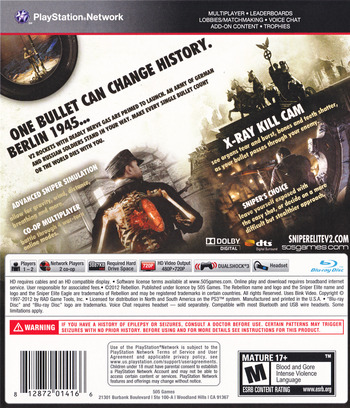 Sniper Elite V2 PS3 backM (BLUS30798)