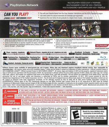 Pro Evolution Soccer 2012 PS3 backM (BLUS30805)