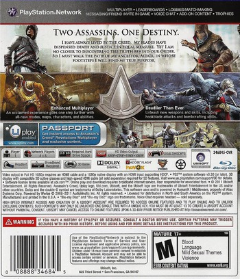 Assassin's Creed: Revelations PS3 backM (BLUS30808)
