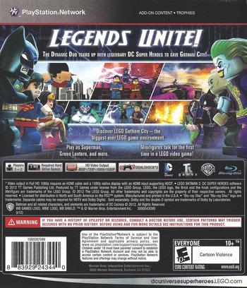 LEGO Batman 2: DC Super Heroes PS3 backM (BLUS30837)