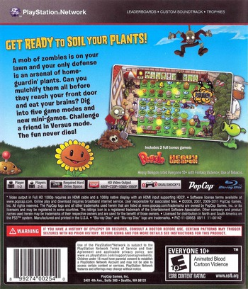 Plants vs. Zombies PS3 backM (BLUS30852)