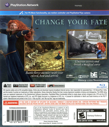 Brave: The Video Game PS3 backM (BLUS30907)