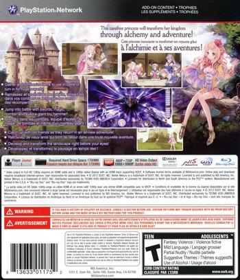 Atelier Meruru: The Apprentice of Arland PS3 backM (BLUS30941)