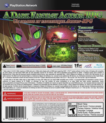 The Witch and the Hundred Knight PS3 backM (BLUS30964)