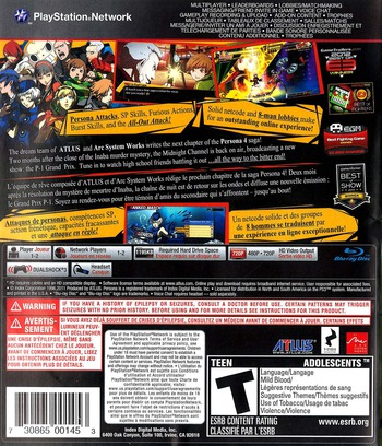 Persona 4 Arena PS3 backM (BLUS30985)
