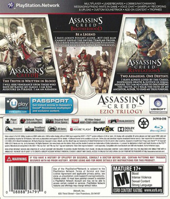 Assassin's Creed: Ezio Trilogy PS3 backM (BLUS31145)