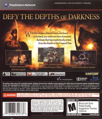 Dragon's Dogma: Dark Arisen PS3 backM (BLUS31155)