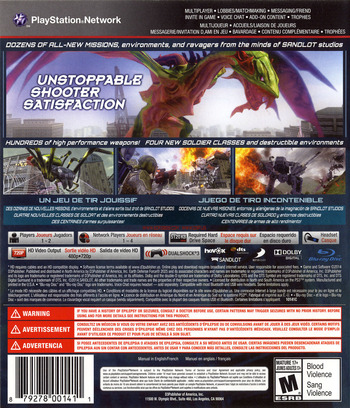 Earth Defense Force 2025 PS3 backM (BLUS31160)