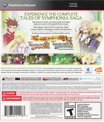 Tales of Symphonia Chronicles PS3 backM (BLUS31172)