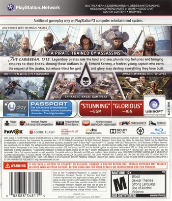 Assassin's Creed IV: Black Flag PS3 backM (BLUS31193)