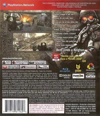 Killzone 2 PS3 backM (BCUS98116)