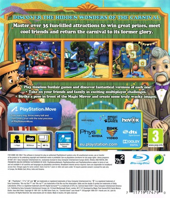 Carnival Island PS3 backM2 (BCES01369)