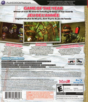 LittleBigPlanet (Game of the Year Edition) Array backM2 (BCUS98208)