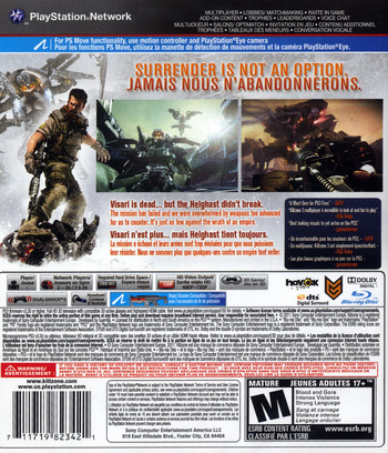 Killzone 3 PS3 backM2 (BCUS98234)