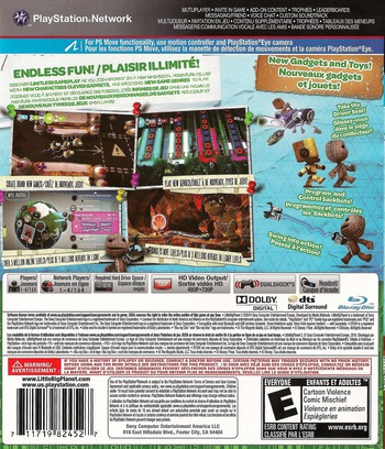 LittleBigPlanet 2 PS3 backM2 (BCUS98245)