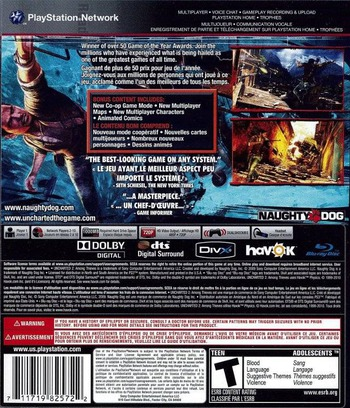 Uncharted 2: Among Thieves (Game of the Year Edition) PS3 backM2 (BCUS98257)