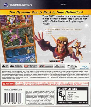 Jak & Daxter  Collection PS3 backM2 (BCUS98281)