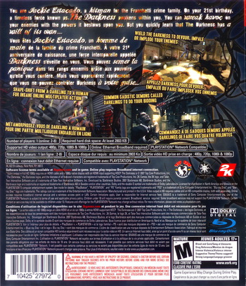 The Darkness PS3 backM2 (BLUS30035)