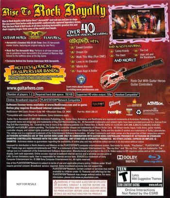 Guitar Hero: Aerosmith PS3 backM2 (BLUS30133)
