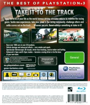 Gran Turismo 5 PS3 backMB (BCES00569)